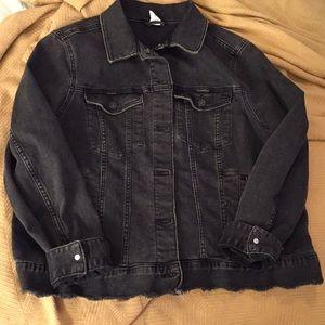 Black blue jean jacket